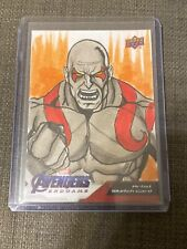 2020 UD Avengers Endgame Captain Marvel Sketch as Diogo Macedo 1/1