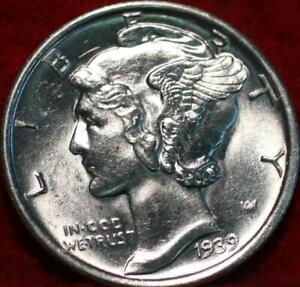 Uncirculated 1939-S San Francisco Mint Silver  Mercury Dime
