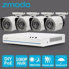 Zmodo 4ch HDMI NVR 4 1280*720p HD IP Network Poe Home Security Camera System