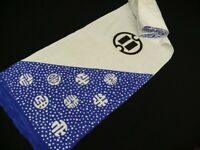 RARE! White & Blue Cotton Japanese TENUGUI Fabric Bolt J743