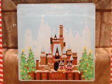 Disney World Contemporary Castle Gingerbread Mickey Minnie 2017 Glass Plate New