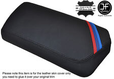 BLACK STITCHING M STRIPE LEATHER ARMREST COVER FITS BMW Z4 E89 2009-2016