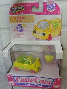 New Shopkins #07 Lemon Limo Die Cast Cutie Cars W/ Mini character