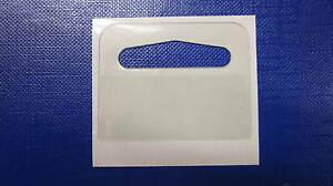 1000 Self Adhesive 43 x 33 Small Delta Hang Tab Euro /Slot /Hooks Hanging Tabs