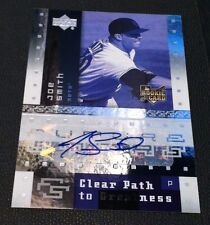JOE SMITH 2007 Upper Deck AUTOGRAPH Clear Path to Greatness FUTURE STARS RC Mets