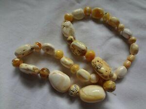 Vintage Butterscotch Egg Yolk Amber Necklace