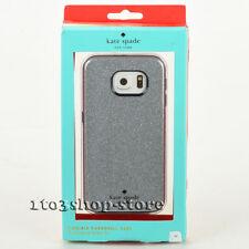 Kate Spade Samsung Galaxy S6 Shockproof Hard Shell Case Sliver Glitter/Navy Blue