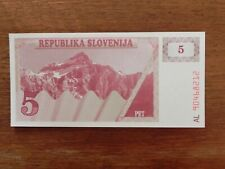 Slovenia 5 Tolar Banknote World Money Unc Currency Bill Europe note p3 1990 Bill