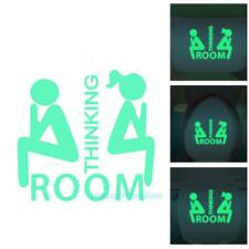 Removable WC Funny Door Sticker Bathroom Toilet Luminous Mural Decal Home Decor
