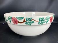 "Crock Shop Santa Ana CA Apple & Ivy Mixing Bowl 12"" Heavy Pottery High Quality!"