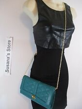 NWT BEBE EAST WEST QUILTED CLUTCH Must-own Quilted clutch goldtone bebe logo