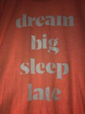 Victoria's Secret Dream Big Sleep Late Sleep Shirt Nightie Size M Orange Cotton