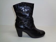Aerosoles Size 11 M SERIAL PORT Leather Ankle Heels Boots New Womens Shoes