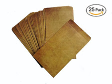 Brown Vintage Kraft Paper Envelopes,4.72 x 7.9 Inches,Pack of 25