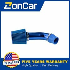 Air Flow Intake Kit Pipe Diameter 3''+Cold Air Intake Filter&Clamp Accessory 1pc(Fits: More than one vehicle)
