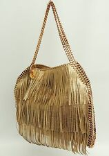 Stella McCartney Gold Fringe Falabella Tote Chain Strap Shoulder Bag- HARRODS