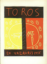 PABLO PICASSO TOROS EN VALLAURIS LITHOGRAPH PRINT 9 X 12 INCHES