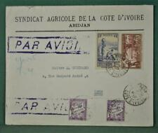 FRANCE COLONIES COTE DE IVOIRE  STAMP COVER TO  FRANCE   (Y131)