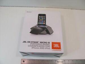 JBL On Stage Micro III Portable Loudspeaker for iPod and iPhone Black HARMAN