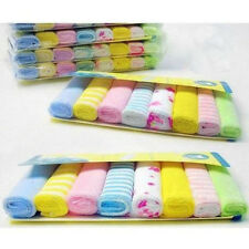 Baby Face Washers Hand Towels Cotton Wipe Wash Cloth 8pcs/Pack SP