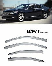 For 07-UP Lexus LS460 WellVisors Side Window Visors W/ Chrome Trim