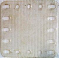 Meccano - 193a Plástico Transparente Plato 5 X 5 Hole Original Usado Pocos