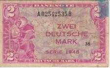 Germany, Fed Rep 3a-535B 2 Deutsche Mark 1948, Block 38, Ink stain, F