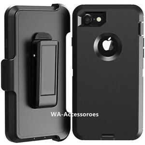 Rugged Defender Case for iPhone 6 6S 7 8 Plus 11 12 Pro Belt clip Fits Otter Box