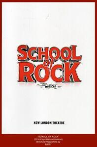 """""""SCHOOL OF ROCK -  Lloyd Webber 2016 London Musical Brochure/Programme x2"""