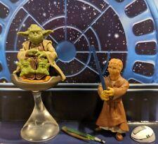 STAR WARS Saga Yoda & Chain Jedi Padawan Younglings Figures Loose Complete
