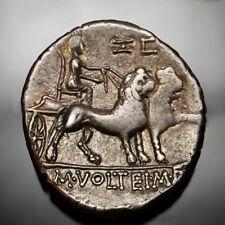 Gold Iridescent⭐️Circus Maximus.Ludi Megalenses.Cybele with lions.Rare Roman coi