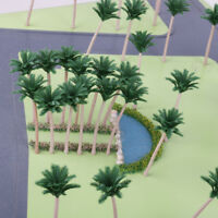 20pcs Layout Model Train Palm Trees Street Beach Scenery HO O Scale 12CM