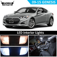 White LED Interior Lights Package Kit for Hyundai Genesis Coupe 2009-2015 7 bulb