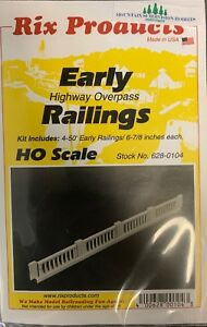 RIX 104 HO Early Highway Overpass Bridge RAILINGS  MODELRRSUPPLY $5 Coupon Offer