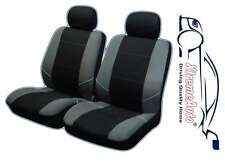 Keswick Black/Grey Front Car Seat Covers For Seat Ibiza Leon Toledo Altea