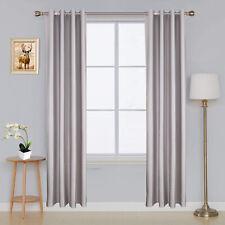 Vorhänge Grau Weiß Blickdicht Verdunkelungsvorhänge mit Ösen für Schlafzimmer