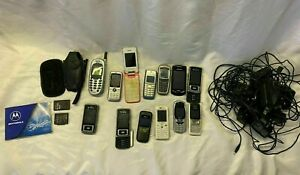 Mixed Retro Mobile Phone & Charger Bundle Job Lot Untested