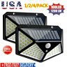 100 LED Solar Power PIR Motion Sensor Wall Lights Outdoor Garden Security Lamp @