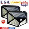 100 LED Solar Power PIR Motion Sensor Wall Lights Outdoor Garden Security Lamp @