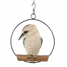 Realistic Kookaburra in Hanging Ring Australian Bird Garden Ornament 25 cm