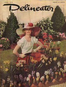 1936 Delineator April - Are women a menace? Scottie Dog; Beautiful hair