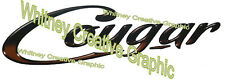 "Cougar RV  GRAPHIC DECALS 56.5"" X 15.5"" Made fresh Not Expired! 1 each"