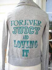 Juicy Couture Velour Track Hoodie Leaf Frame Tracksuit Original Jacket Sz P