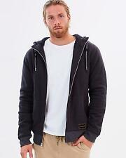 Size S Mens Quiksilver NOBLE CUZ HOODIE Sherpa Lined Hooded Jumper Jacket Tarmac