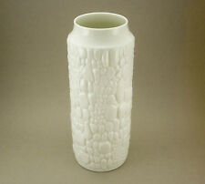 Huge Kaiser Pottery Germany Mid Century 1960s white Op Art Reptile Skin Vase
