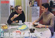 COUPURE DE PRESSE CLIPPING 2007 Garry Kasparov (4 pages)