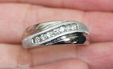 New Kay Jewelers 14K Size 9.5 1/4ct Diamond Mens Wedding Band 7g Ring White Gold