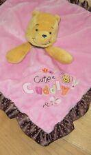 Disney Pink Brown Winnie The Pooh Cute Cuddly Baby Blanket