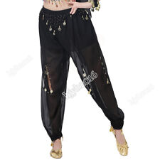 Sexy Belly Dance Pants Halloween Costumes Dance Performance Wear Trousers Coin
