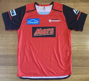 Melbourne Renegades Player Issue Training Shirt Jersey KFC BBL Cricket - XL